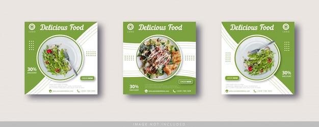 Lebensmittelverkauf instagram post und social media banner vorlage