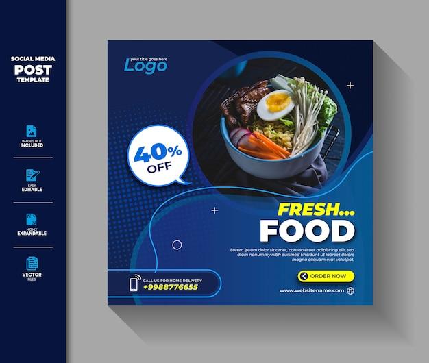 Lebensmittelverkauf social media post instagram banner vorlage