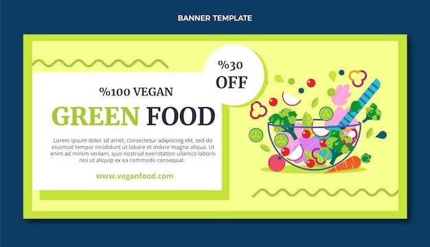 Lebensmittelverkaufsbanner im flachen design