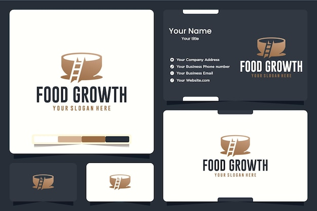 Lebensmittelwachstum, leiter, logo-design-inspiration