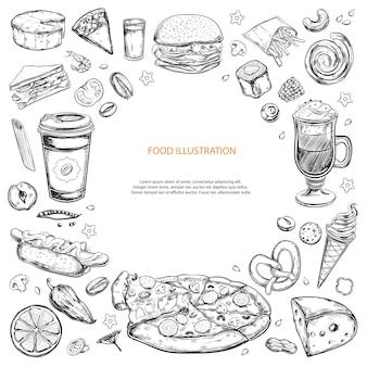 Lebensmittelzutaten isoliert auf weiß