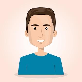 Lebensstil-Avatarvektor-Illustrationsdesign des jungen Mannes