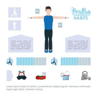 Lebensstil der gesunden gewohnheiten infographic