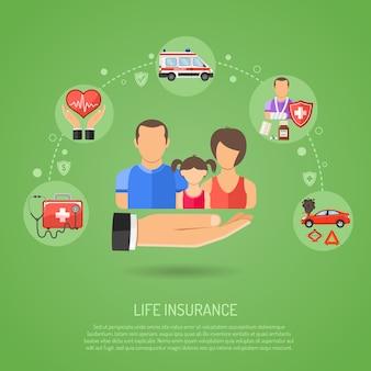 Lebensversicherungskonzept