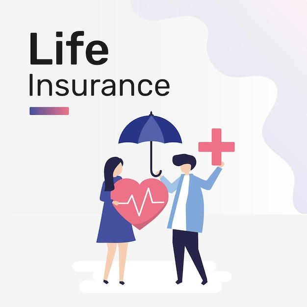 Lebensversicherungsvorlage für social-media-beiträge