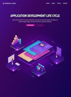 Lebenszyklus-banner für die anwendungsentwicklung