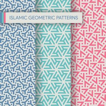 Lebhafte islamische nahtlose muster-beschaffenheits-sammlung
