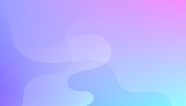 Lebhafter hintergrund mit fließendem farbverlauf mit kurvigen formen