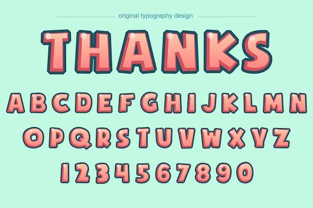 Lebhafter mutiger abgeschrägter comic-typografieentwurf
