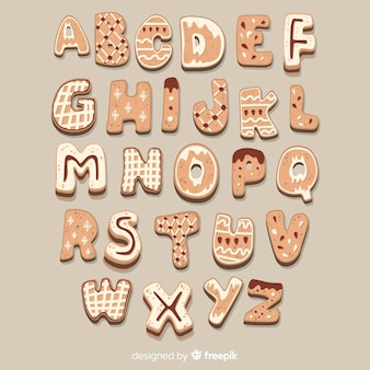 Lebkuchen-cookie-alphabet