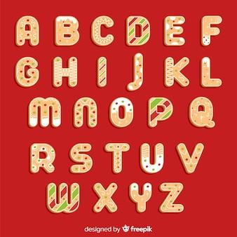 Lebkuchen verziertes alphabet