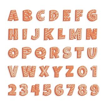 Lebkuchen weihnachten alphabet pack