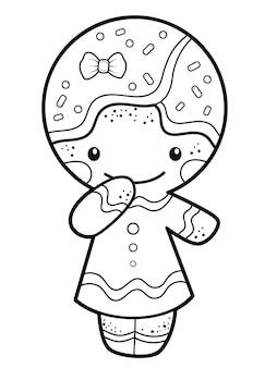 Lebkuchenmann-illustration zum ausmalen