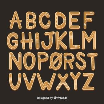 Lebkuchenplätzchen alphabet