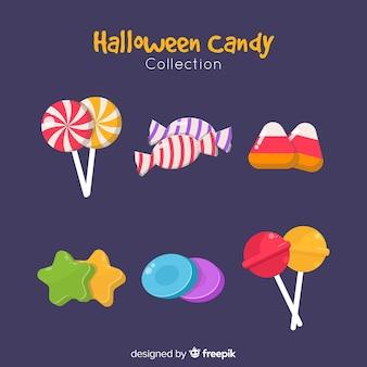 Lecker halloween süßigkeiten sammlung