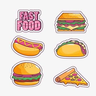Lecker und fast-food-design