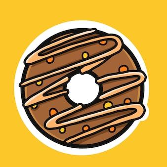 Leckere appetitliche donuts mit glasur und streusel.