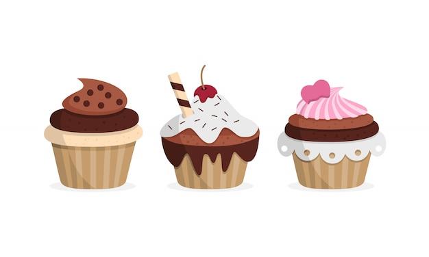 Leckere cupcakes. süßes essen.