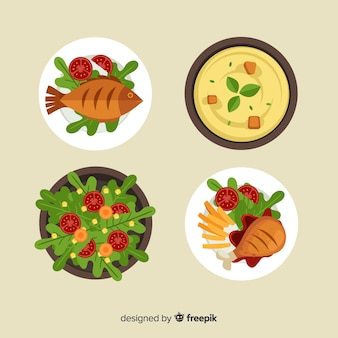Leckere essensgerichte eingestellt