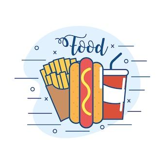 Leckere fastfood-ernährung und unheilbares essen