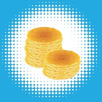 Leckere flauschige pfannkuchen