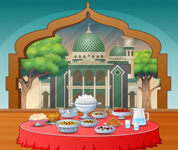 Leckere gerichte für die iftar-party