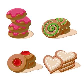 Leckere kekse gesetzt