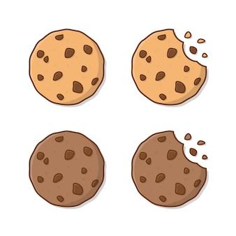 Leckere kekse lokalisiert auf weiß