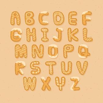 Leckere lebkuchen-cookie-alphabet