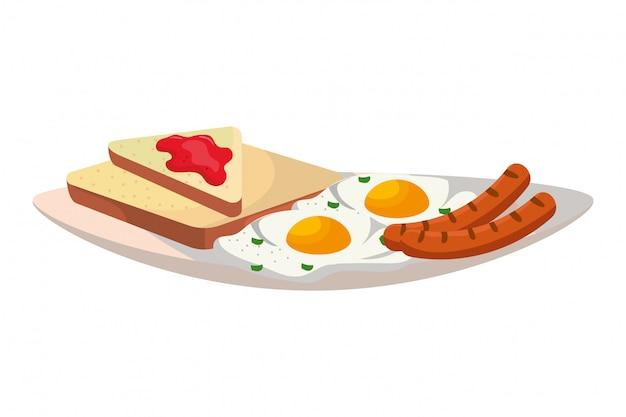 Leckere leckere frühstück cartoon