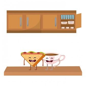 Leckere leckere sandwich-cartoon