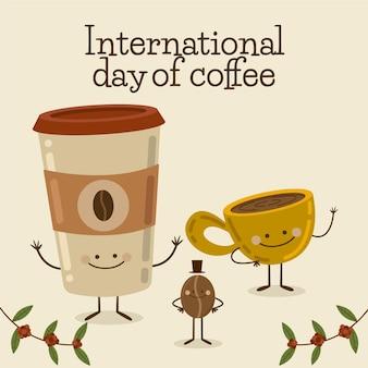 Leckere tasse kaffee und kaffee zum mitnehmen
