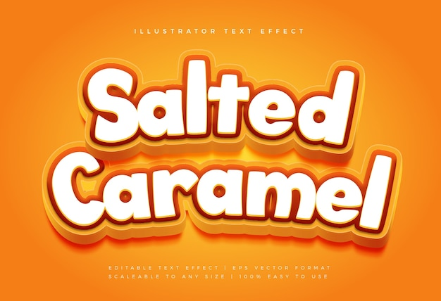 Leckerer karamell-textstil-schrifteffekt