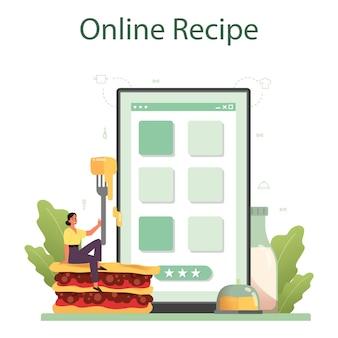 Leckerer lasagne-onlinedienst oder plattform