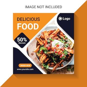 Leckeres essen und restaurant essen social media insta post
