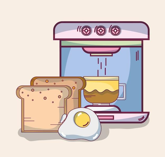 Leckeres frühstück cartoons