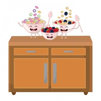 Leckeres leckeres essen cartoon
