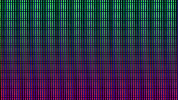 Led-bildschirm mit pixelstrukturiertem anzeigeeffekt