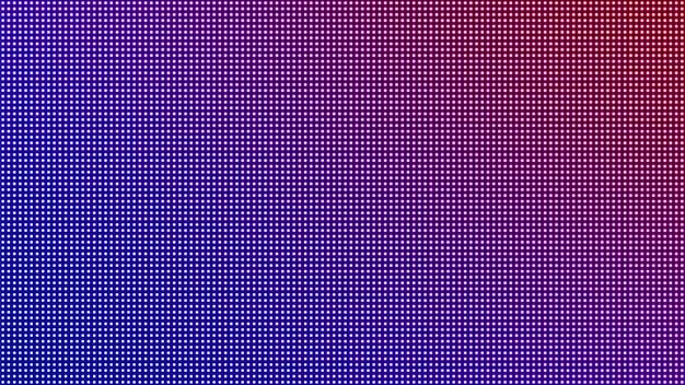 Led bildschirm. pixelstrukturierter hintergrund. digitaler bildschirm. lcd-monitor. elektronischer diodeneffekt. vektor