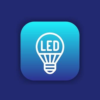 Led-glühbirne symbol leitung