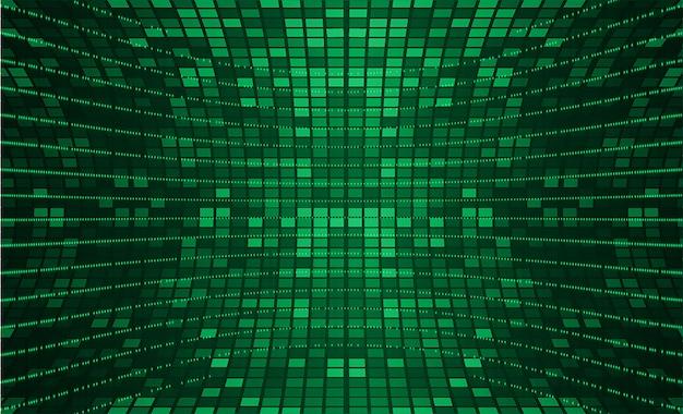 Led-grüner kinoleinwand für filmpräsentation.