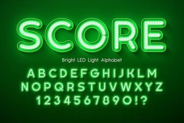 Led-licht 3d alphabet, extra leuchtend