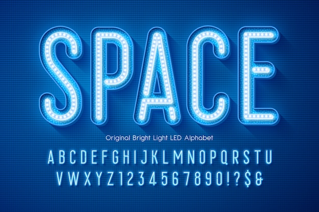 Led licht alphabet