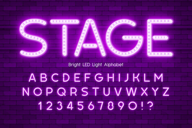 Led-licht extra leuchtendes alphabet