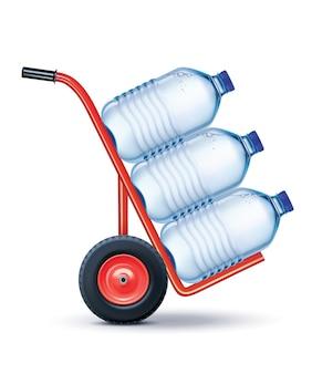 Lederbrieftasche mit wasserversorgung