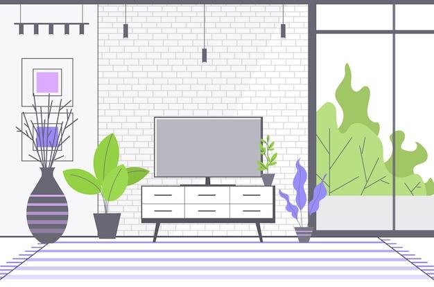 Leer keine menschen wohnzimmer innen modernes wohnungsdesign