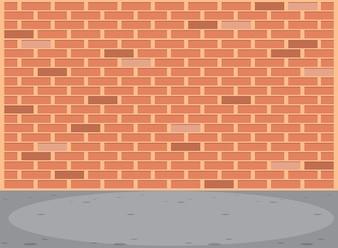 Leere Backsteinmauer Szene
