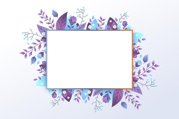 Leere banner mit winterblumen