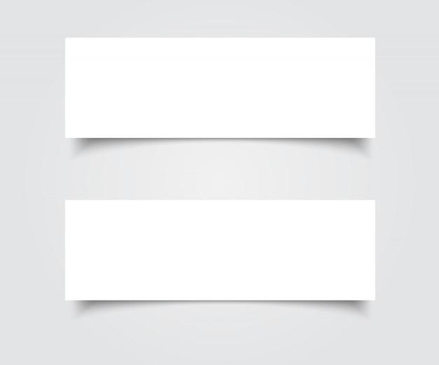 Leere banner vektor