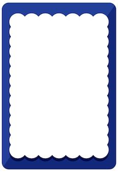 Leere blaue curl-rahmen-banner-vorlage